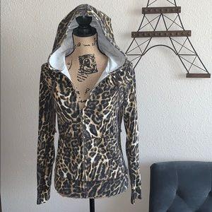 Lucky Brand Leopard Print Hoody